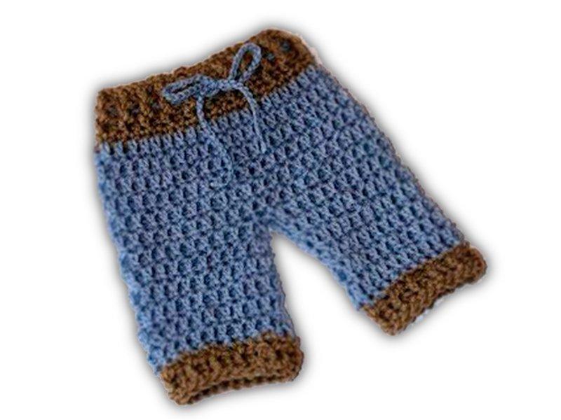 Pantalón con cinturon tejido