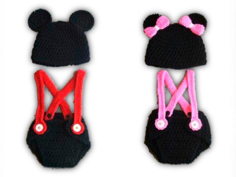 Outfit de Mickey o Minnie Mouse con tirantes